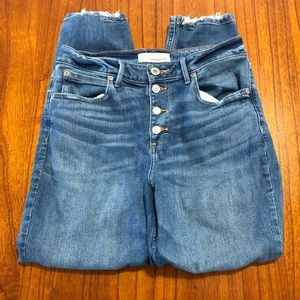 Maurices distressed boyfriend button fly jeans